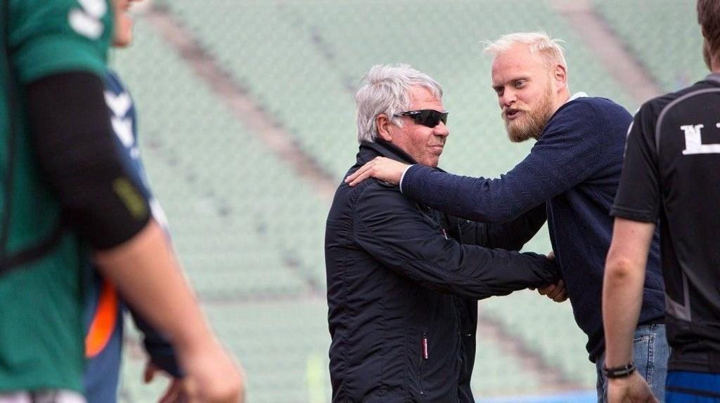 Egil Drillo Olsen gikk i sommer inn i Lyns trenerteam sammen med Jonas Rygg (til høyre) og Viggo Strømme.