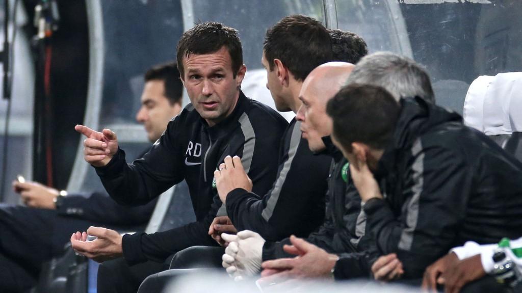 Ronny Deila kan lede Celtic til gruppespillet i Champions League i kveld.