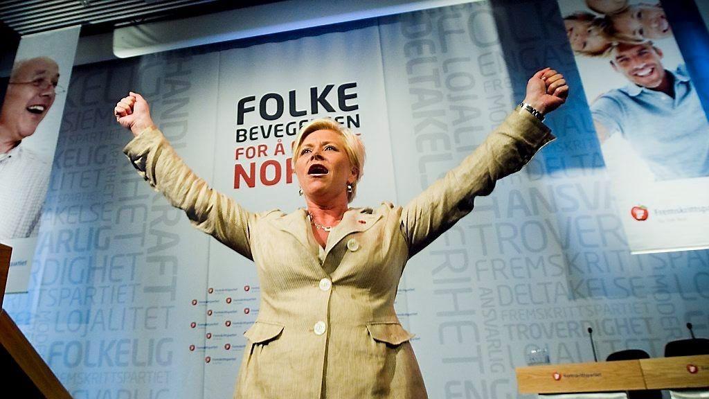 Frp-leder og finansminister Siv Jensen kan juble over mer penger til Frp. I fjor hadde hennes parti en betydelig vekst når det gjelder pengegaver, fra 0,9 millioner i 2012 til 4,6 millioner.