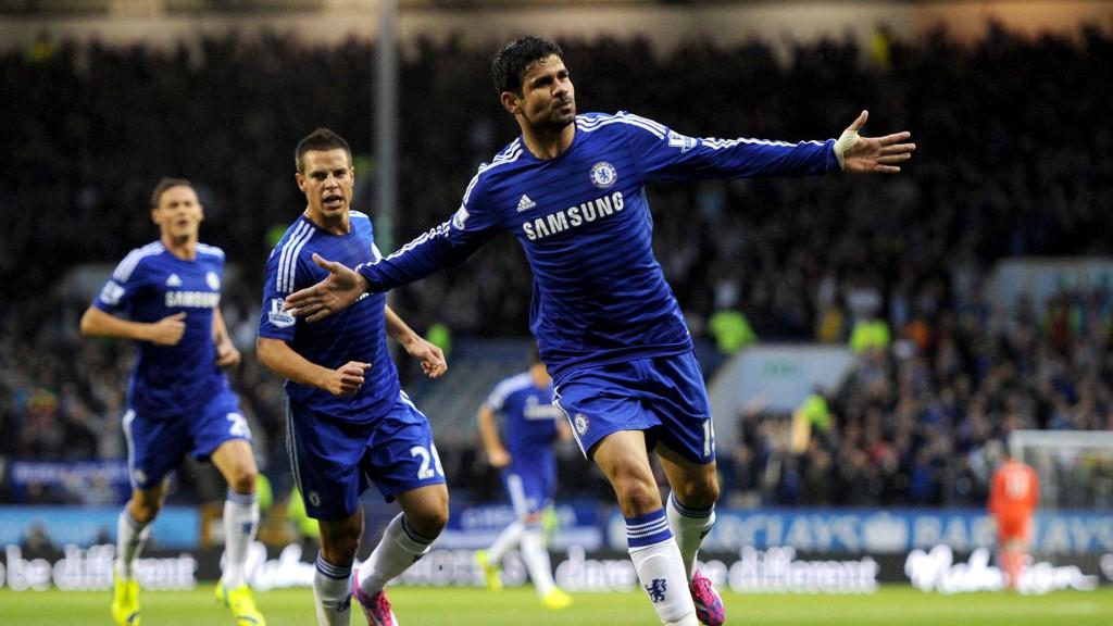Diego Costa sliter med en strekkskade og er usikker før Chelsea møte med Everton søndag.