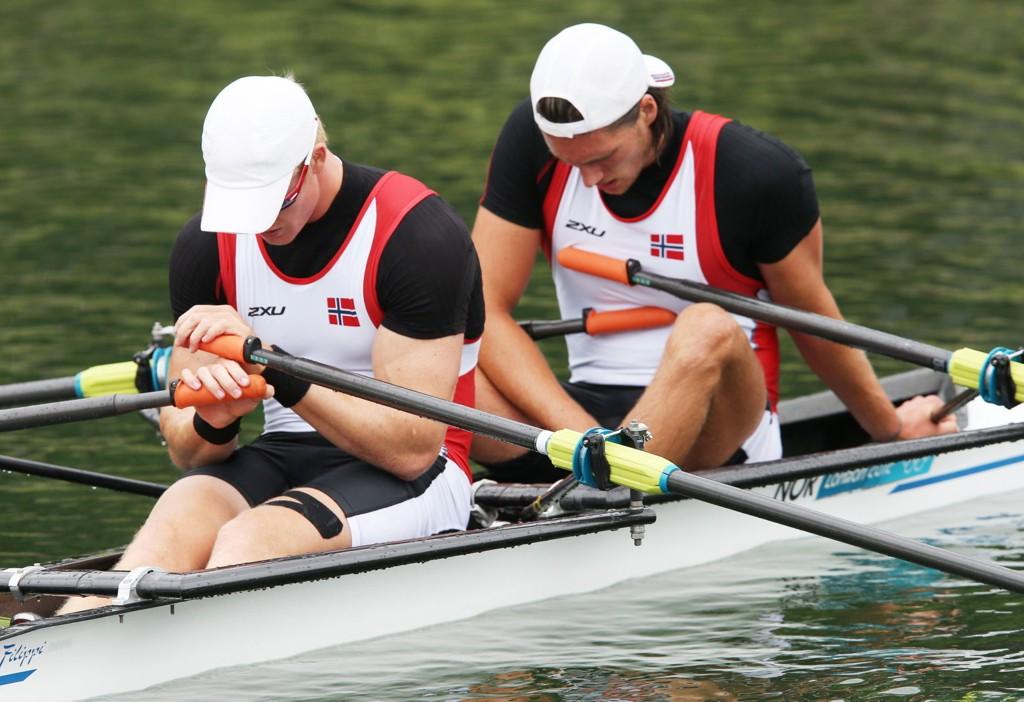 SLÅTT UT: Kjetil Borch og Nils Jakob Hoff fikk det ikke til i VM. Her fra OL i 2012.