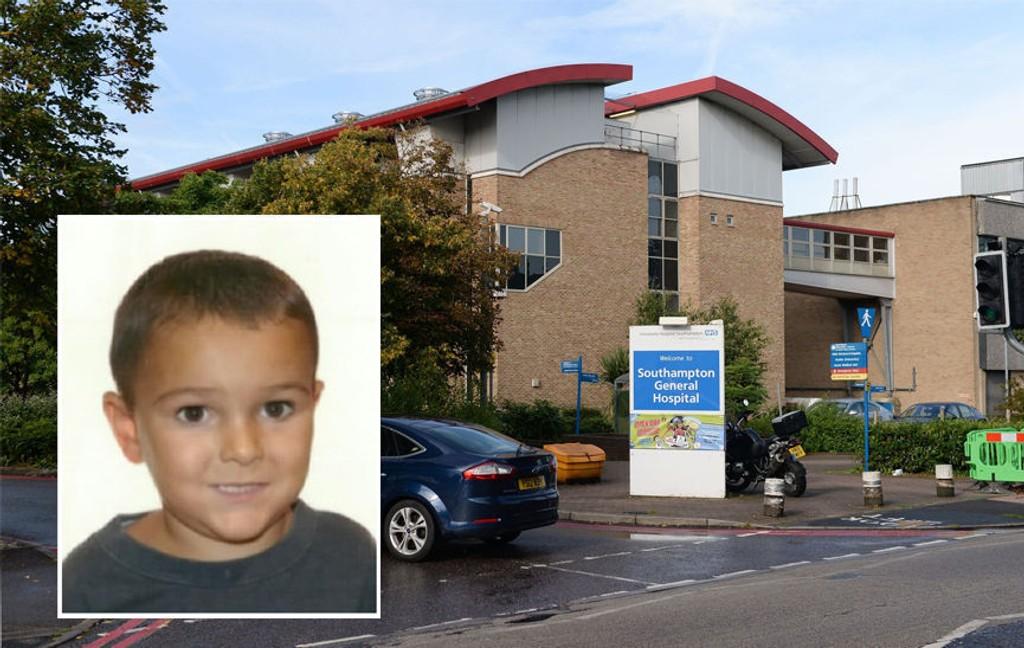 I LIVSFARE: Fem år gamle Ashya King var lagt inn på dette sykehuset, i Southampton i England, da han ble bortført av foreldrene sine.