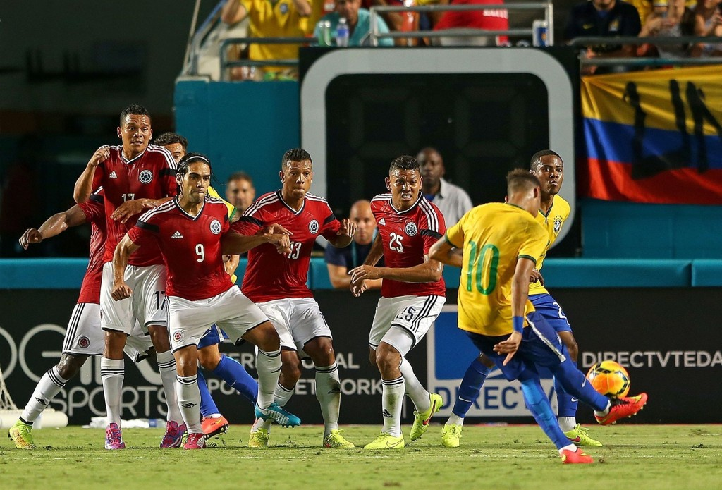 MÅL: Neymar avgjorde mot Colombia.