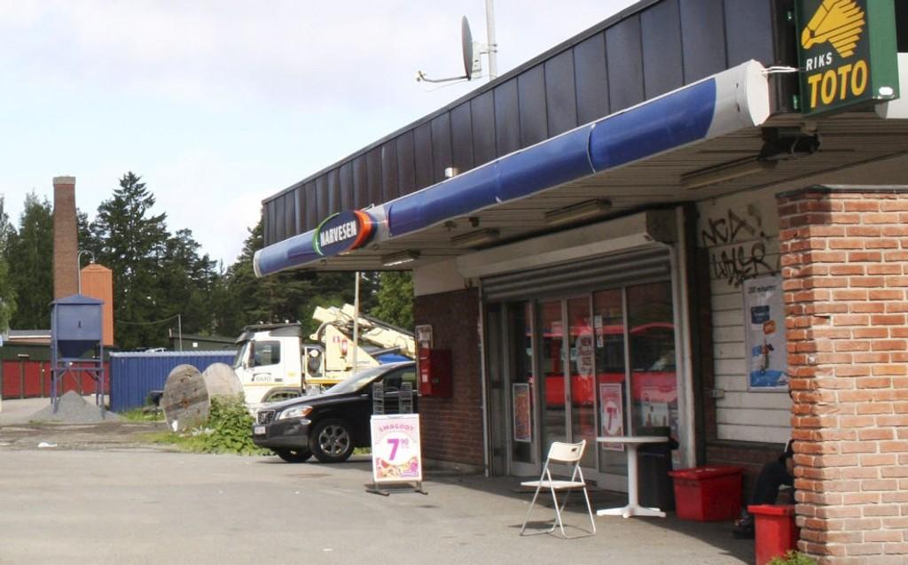 Kiosken på Bergkrystallen ble ranet søndag kveld. Dette bildet er tatt i en annen sammenheng.