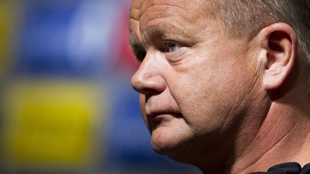 Norges landslagssjef Per-Mathias Høgmo under fotballandslagets pressetreff på Ullevaal stadion mandag ettermiddag.