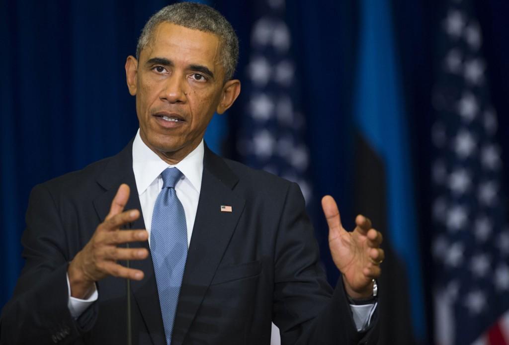 KLAR TALE: - Vi skal uskadeliggjøre og ødelegge IS slik at terrorgruppen ikke lenger er en trussel mot regionen eller USA, sa Barack Obama nylig under en pressekonferanse i Tallinn.