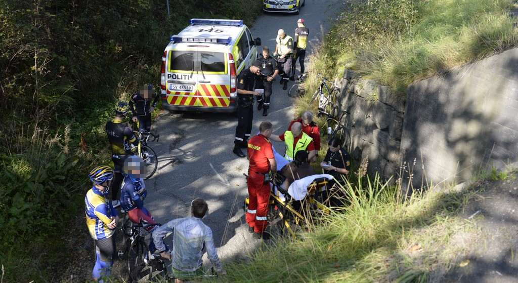 SYKKELKOLLISJON: Ulykken skjedde i en undergang like ved Vågsbotn i retning Arna.