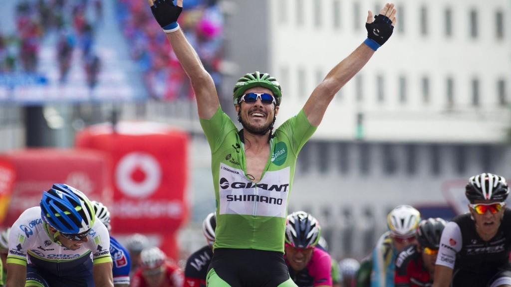 VANT: John Degenkolb tok onsdag sin fjerde etappeseier i Vuelta a España.