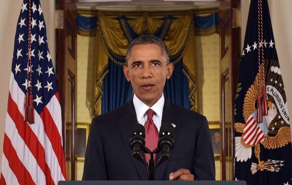 USAs president Brack Obama talte til nasjonen torsdag kveld. I den direktesendte TV-sendingen forklarer han hvordan IS skal uskadeliggjøres.