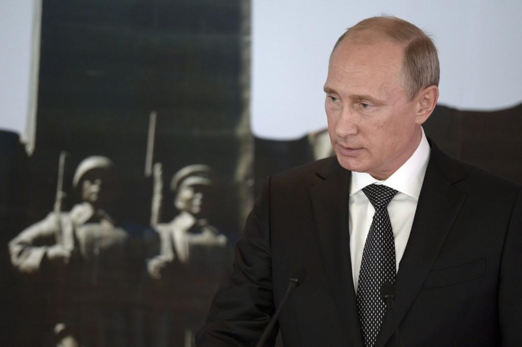 Her er president Vladimir Putin fotografert i Mongolia tidligere denne uka.