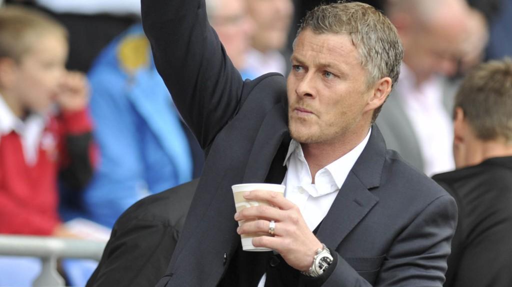 GLAPP: Ole Gunnar Solskjær og Cardiff ledet 2-0 mot Norwich, men tapte 2-3.