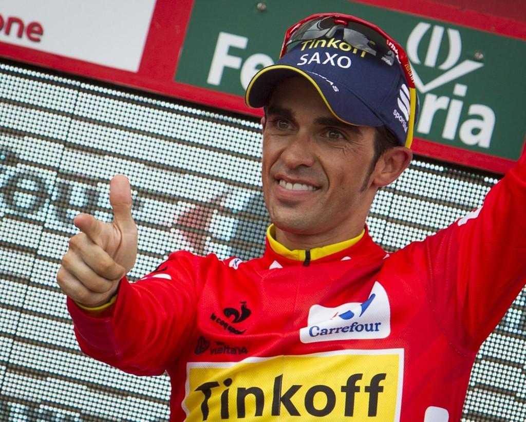 NÆR NY TRIUMF: Sykkelstjerne Alberto Contador.
