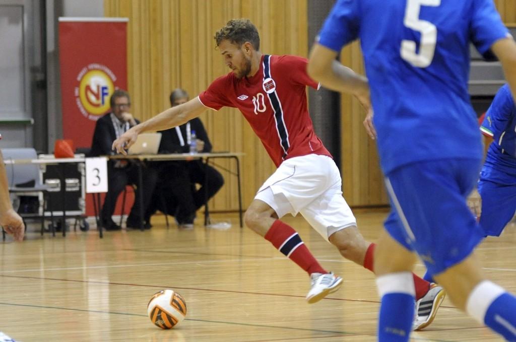 Målscorer: Stian Sortevik scoret Norges første mål da de spilte 2–2 hjemme mot Italia.BEGGE FOTO: Solfrid Therese Nordbakk