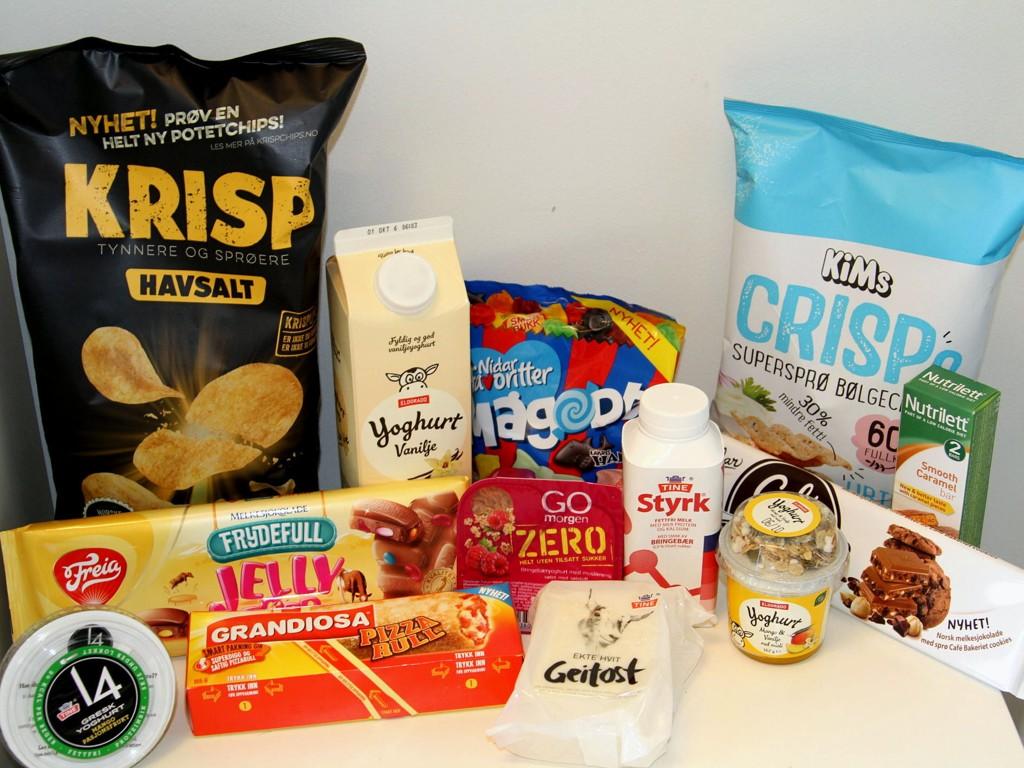 MATNYHETER: Vi har blant annet smakt på nyheter fra snackshylla, yoghurter og pizzarull.
