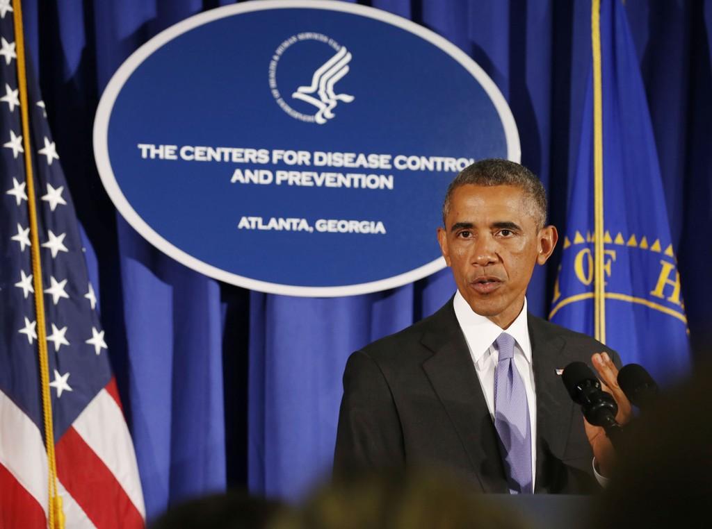Amerikanske fly begynte å bombe IS-opprørere i Irak 8. august. Bildet viser USAs president Barack Obama tirsdag. Foto: Larry Downing/Reuters/NTB scanpix