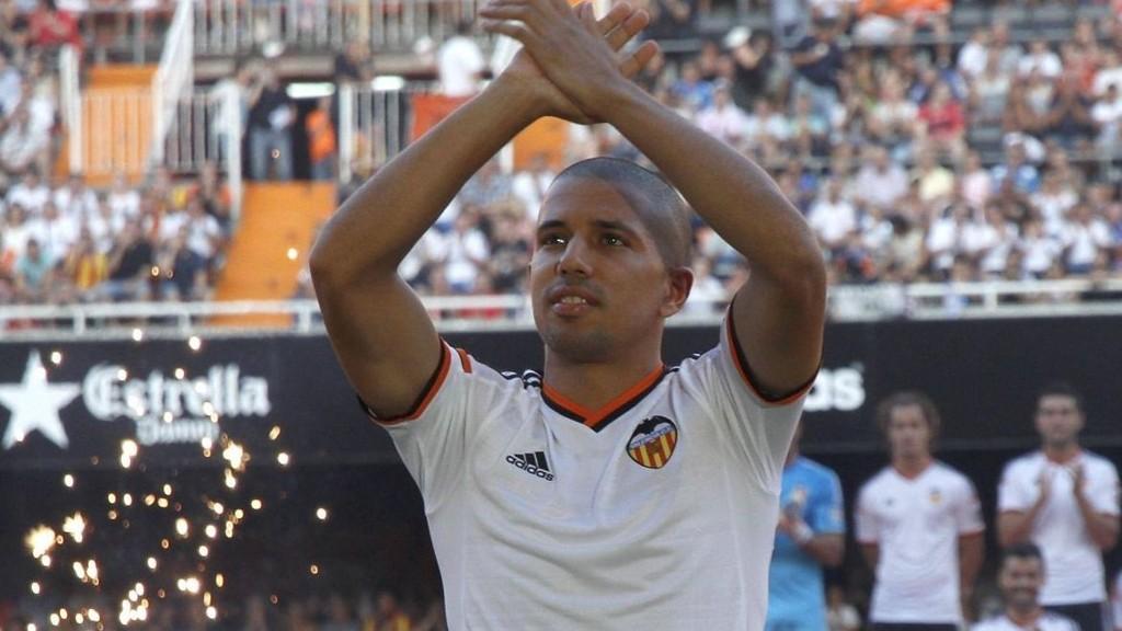 SCORET: Sofiane Feghouli scoret Valencias siste mål mot Cordoba.