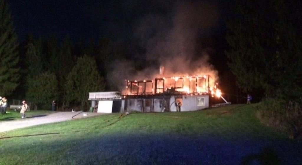 Huset i Kilebygda er fullstendig overtent.