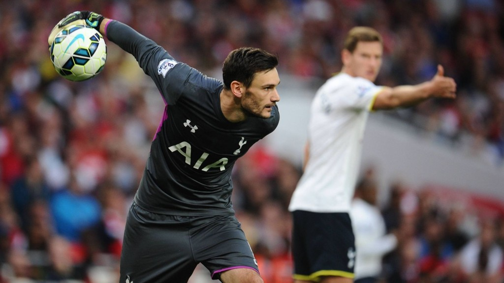 HYLLES: Hugo Lloris hylles av egen sjef etter sin strålende innsats mot Arsenal.
