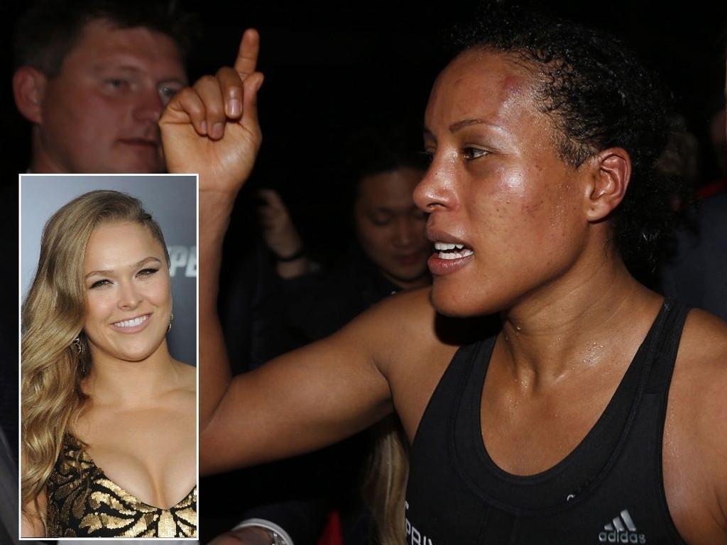 REAGERER: Cecilia Brækhus reagerer på Ronda Rouseys treners kommentarer.