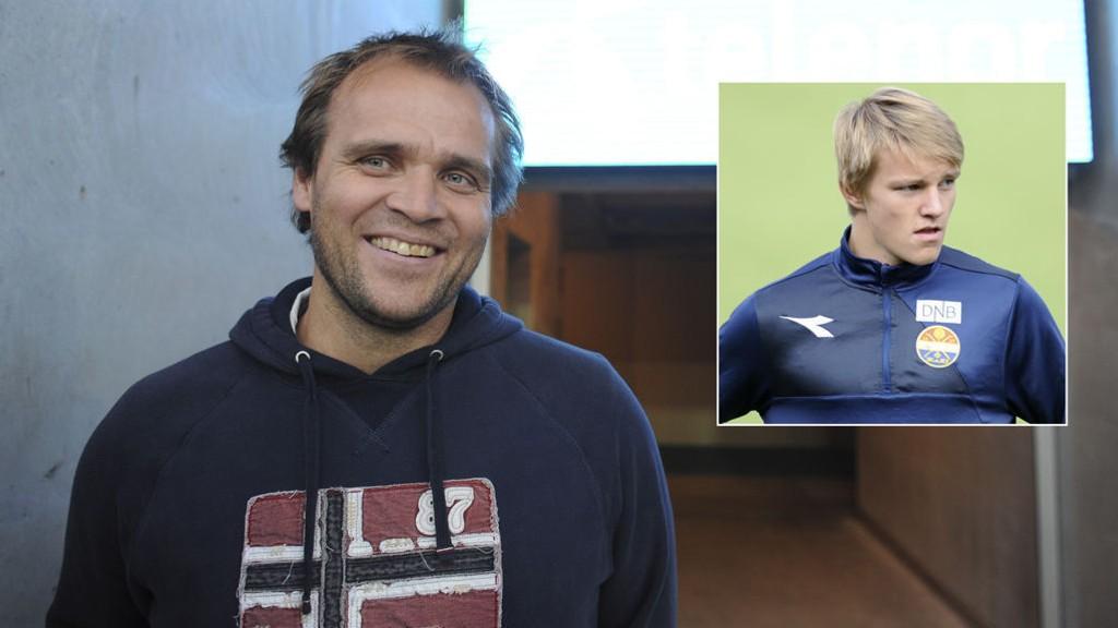 FORNØYD: Hans Erik Ødegaard sier til Nettavisen at det var morsomt å høre at sønnen er med i Per Mathias Høgmos landslagstropp.