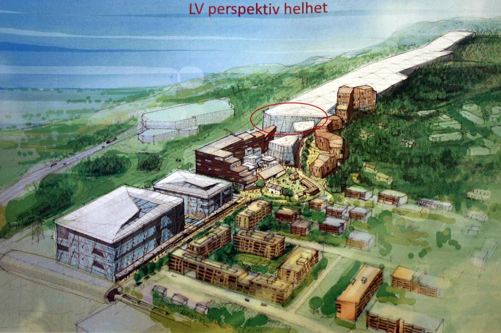 HELHETLIG: Slik tenker Selvaag seg det ferdige Lørenskog Vinterpark. Arkitekt Thomas Thiis-Evensen har vært med og utforme den overordnede arkitektoniske ideen for konseptet.
