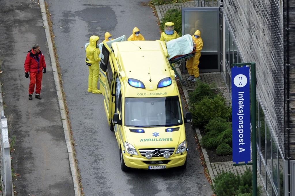 Den norske ebolasmittede kvinnen ankom Ullevål sykehus tirsdag ettermiddag.