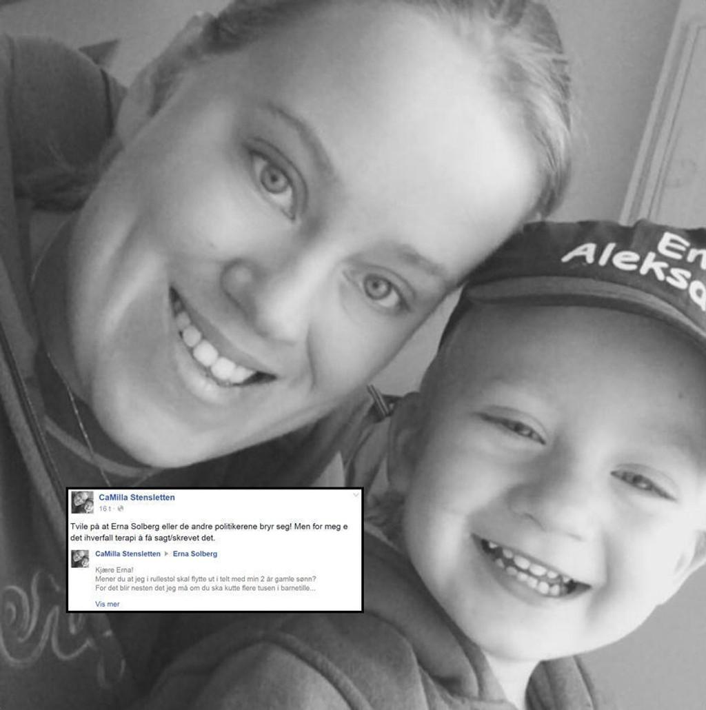 Camilla Stenslettens melding til Erna Solberg har skapt enormt engasjement.