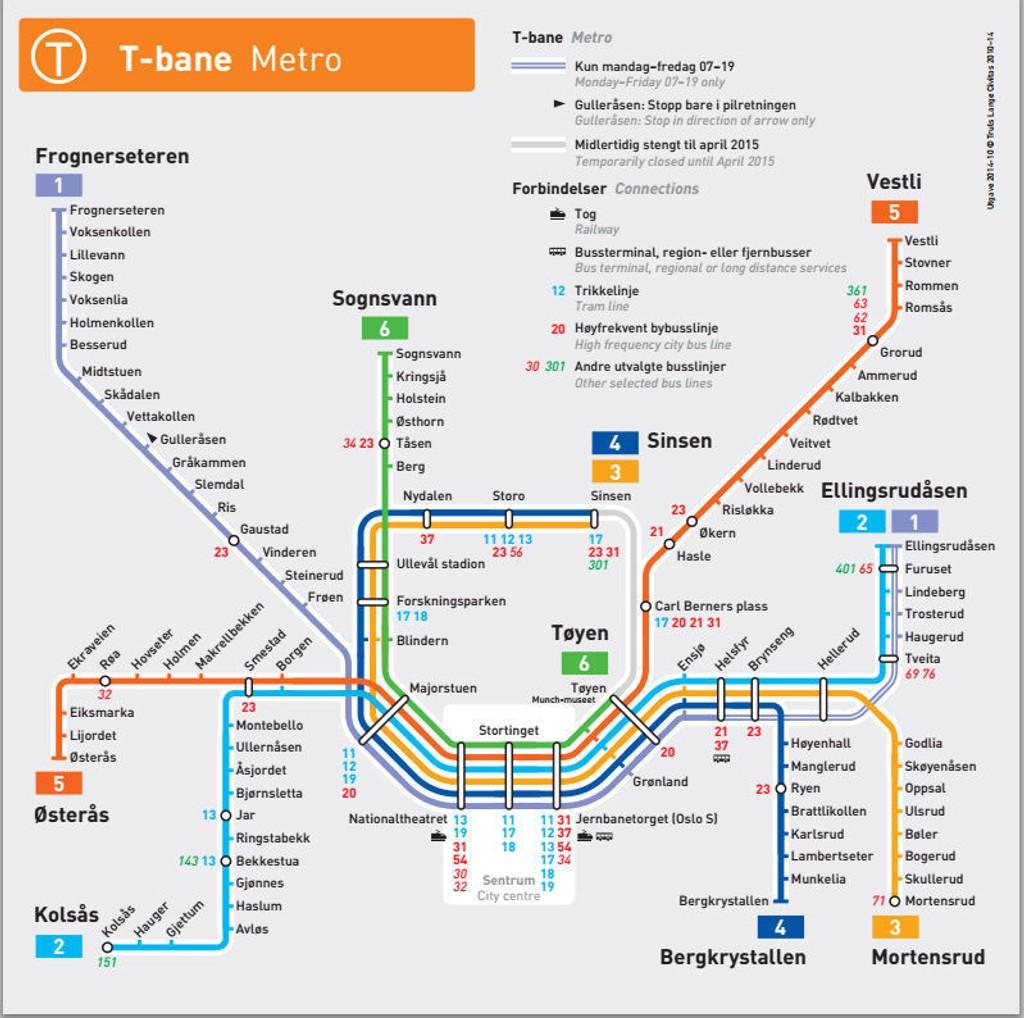 ruter kart t bane Kolsåsbanen er gjenåpnet ruter kart t bane
