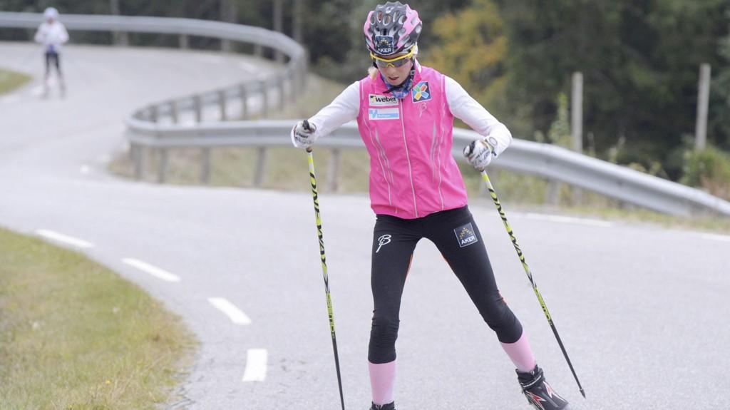 BRUDD: Kristin Størmer Steira under trening i september. Her trener hun med brudd i bekkenet, uten å vite det.