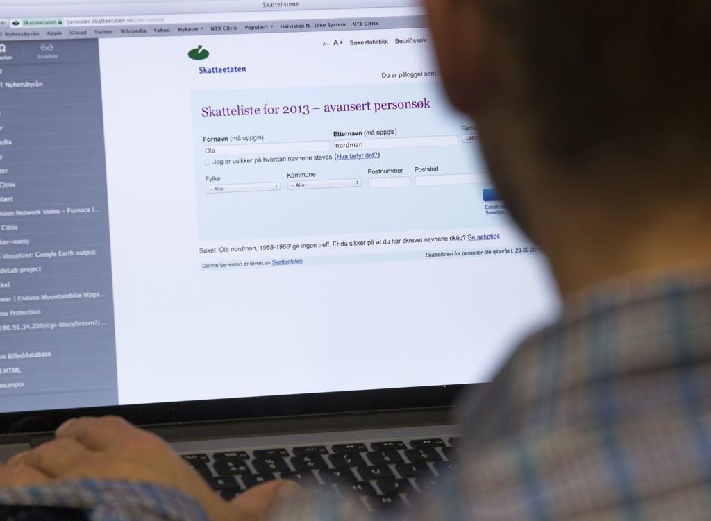 Skattelistene 2013 ble offentliggjort fredag. Det som er nytt i år er at du får beskjed om hvem som søker deg opp.
