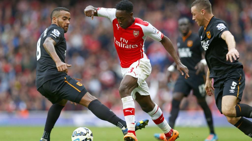 SCORET: Danny Welbeck reddet ett poeng for Arsenal med scoring på overtid.