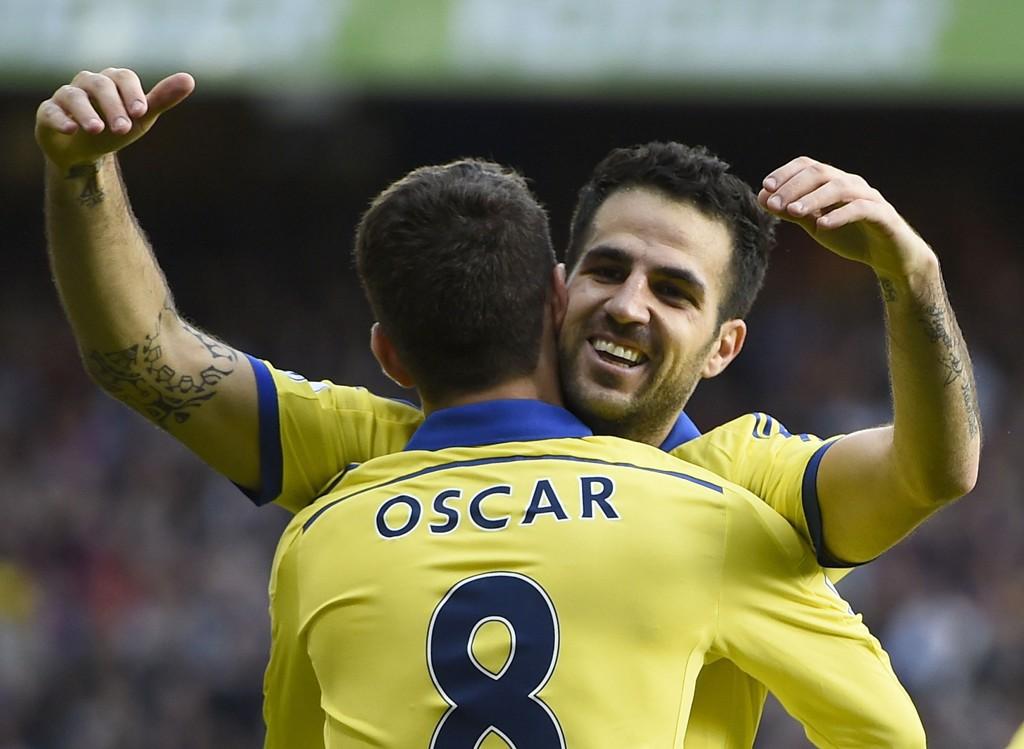 MÅLSCORERE: Cesc Fábregas og Oscar scoret målene for Chelsea.