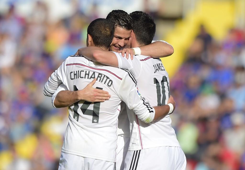 MÅLKONGE: Cristiano Ronaldo er ustoppelig for tiden.