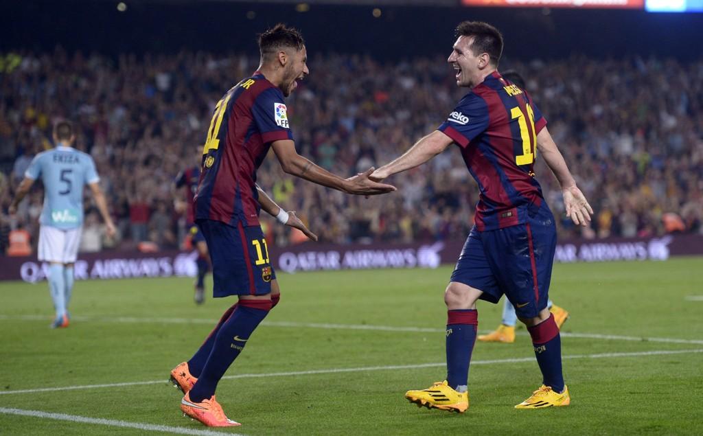 SUPERDUO: Lionel Messi og Neymar herjer i La Liga.
