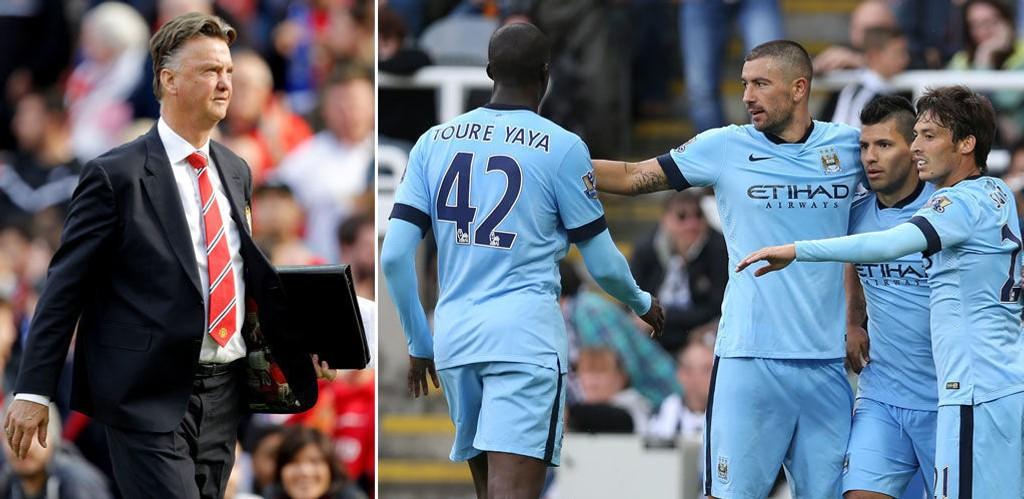IKKE MISUNNELIG: - Jeg er ikke misunnelig på stallen til Manchester City. Jeg er stolt over spillerne mine, og det er det viktigste, sier Louis van Gaal.