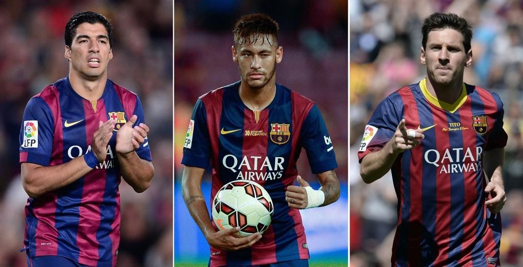 SLET: Barcelonas angrepstrio slet med å score mål mot Celta Vigo.