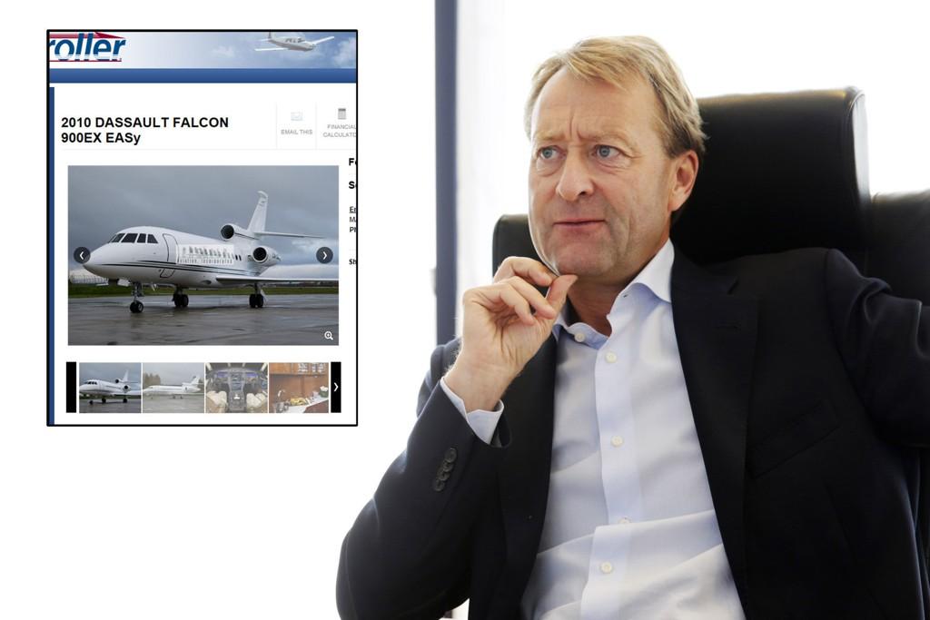 TIL SALGS: Bjørn Rune Gjelsten selger sitt private jetfly verdt flere hundre millioner kroner.