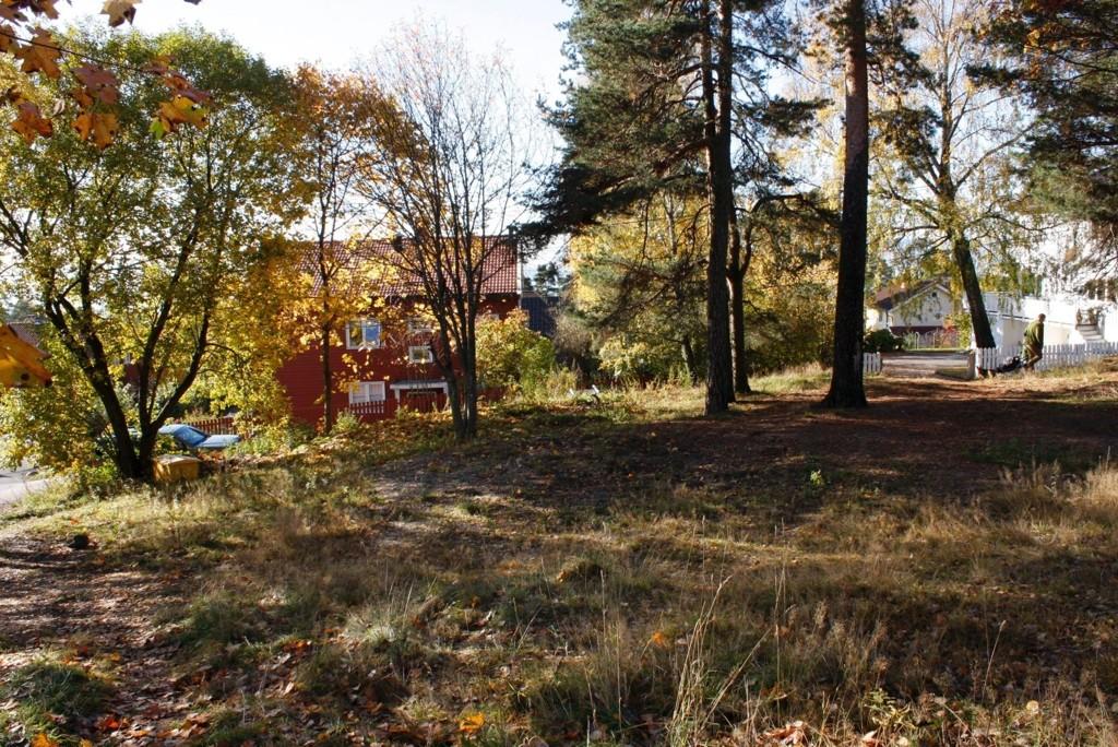 BLIR PARK: I Kirkeåsveien 21 på Bekkelaget er bydelen i gang med å anlegge en park.