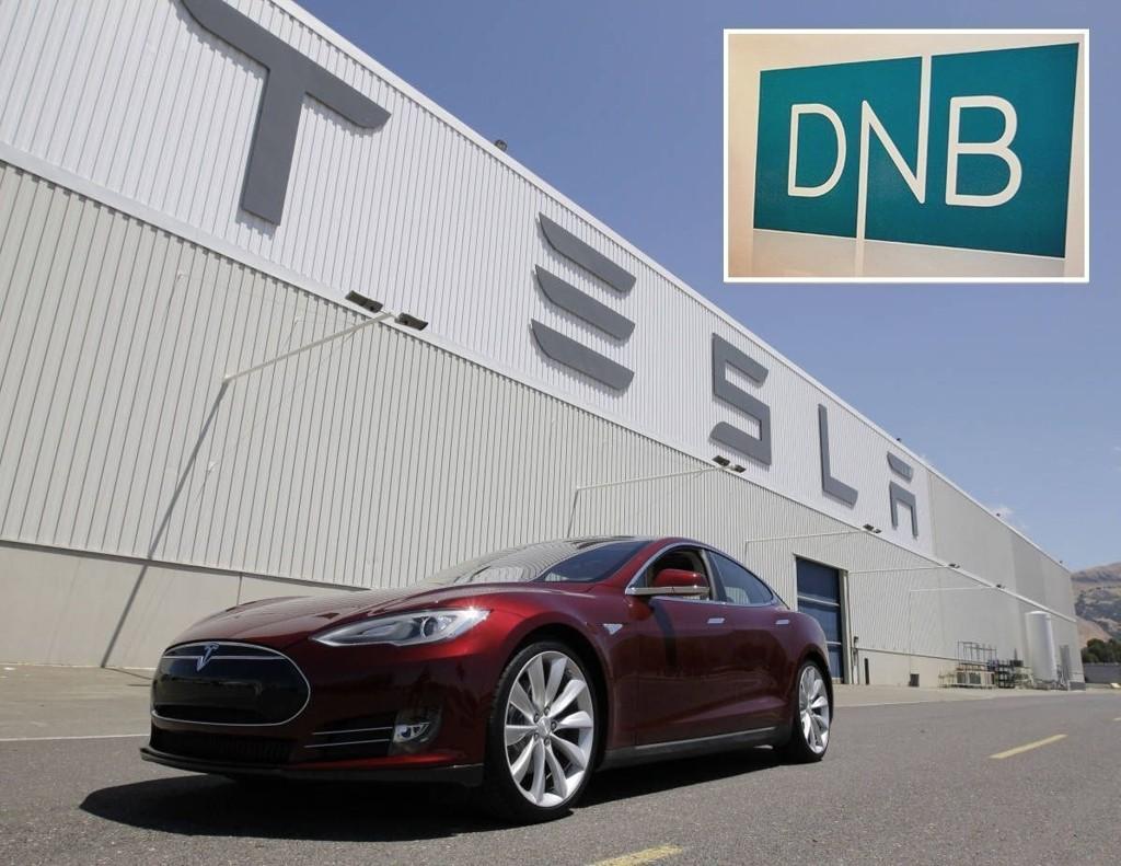 SUKSESS: Bak disse grå veggene i Fremont, California, produseres Tesla-bilene. Det 11 år gamle elbilfirmaet har per i dag en markedsverdi på 207,8 milliarder kroner. Det er 8,6 milliarder mer enn børsverdien av den norske bank- og forsikringsgiganten DNB.