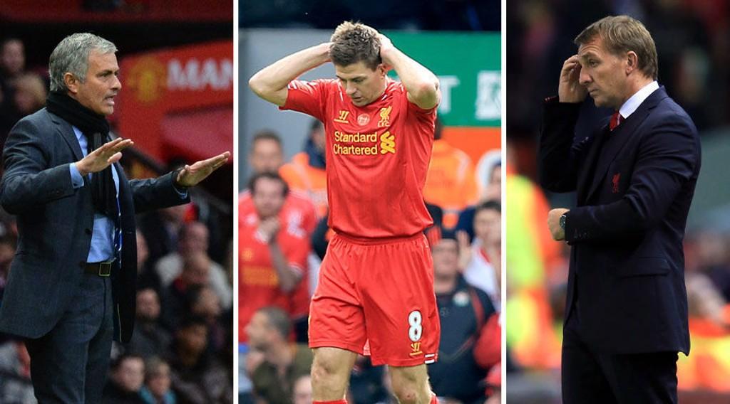 TID FOR REVANSJE? José Mourinho og Chelsea ødela Liverpools gulldrøm i april. Nå er Steven Gerrard, Brendan Rodgers og Liverpool ute etter revansje.