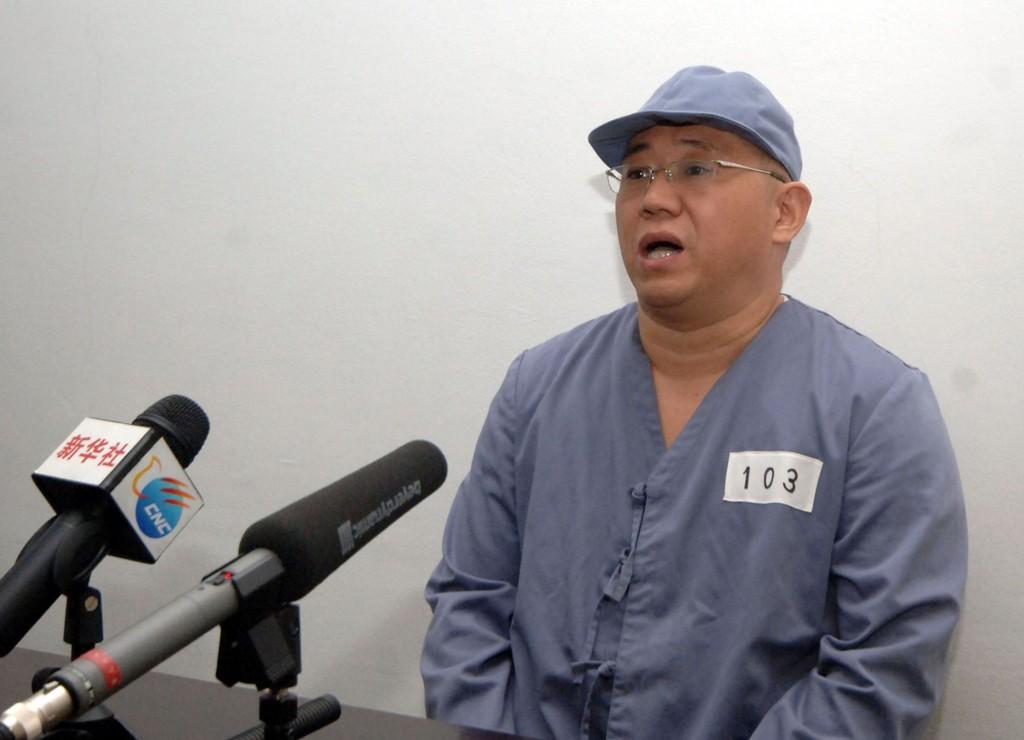 Den koreansk-amerikanske misjonæren Kenneth Bae satt to år i fangenskap i Nord-Korea før han lørdag ble løslatt og kunne reise hjem til USA. Dette bildet ble sendt ut av det statlige nordkoreanske nyhetsbyrået KCNA i januar i år.