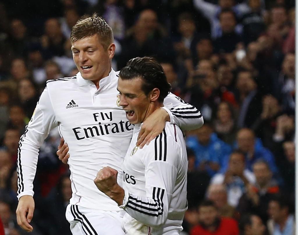 SCORET: Både Toni Kroos og Gareth Bale scoret i Real Madrids knusende seier lørdag.