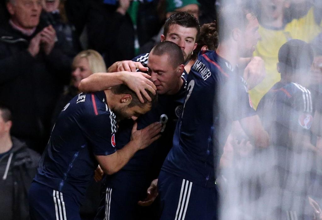 MATCHVINNER: Shaun Maloney ga Skottland seieren.