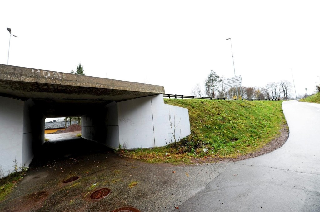 ÅSTED: Kvinnen skal ha blitt overfalt og voldtatt i denne undergangen ved Grindløkken skole. Hendelsen skjedde midt på dagen lørdag. Det pleier å være mye trafikk i området på tidspunktet voldtekten skal ha skjedd.