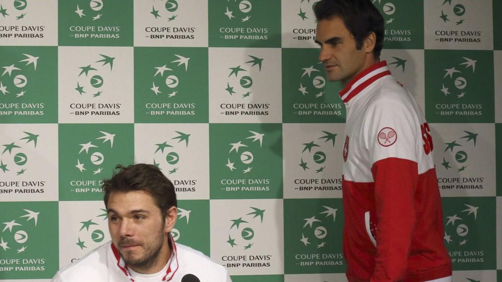 - INGEN KONFLIKT: Roger Federer avviser at han og Stanislas Wawrinka har en konflikt gående.