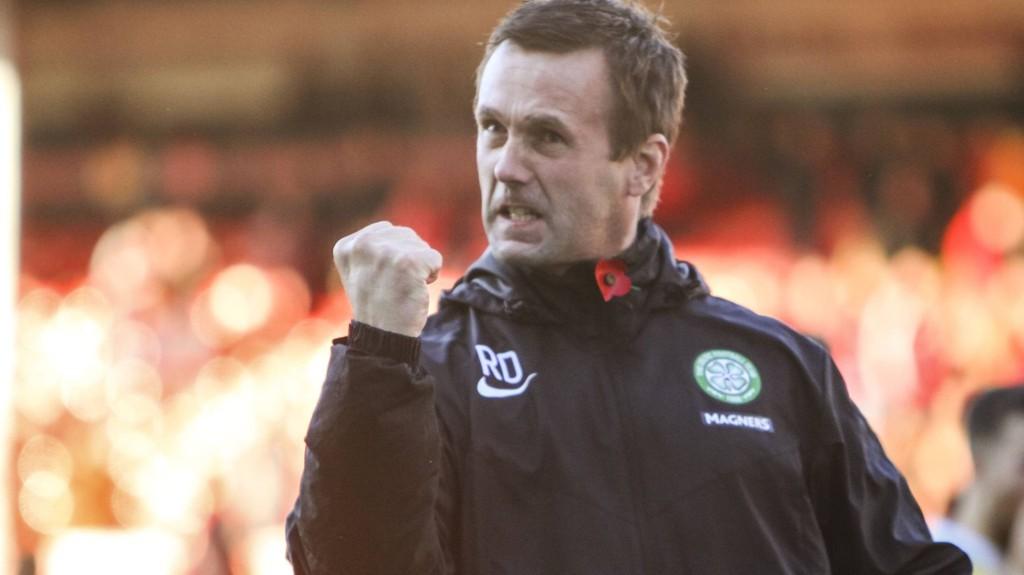 PASSION: Ronny Deila klarte ikke å skjule sin glede etter seieren mot Aberdeen.
