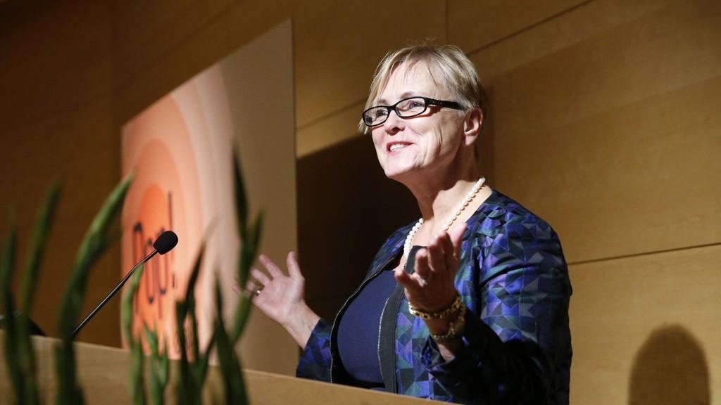 KULTURMINISTER Thorhild Widvey er glad for å kunne gi idretten full momskompensasjon.