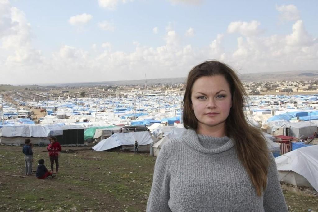 Marianne Sveen har besøkte blant annet Kawergosk leir, som ble etablert i august i fjor og huser rundt 10.000 flyktninger.