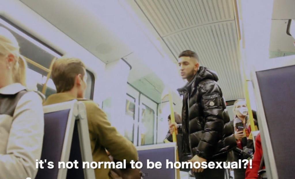 ARIAN KASHEF spliller mannen som angriper de homofile.