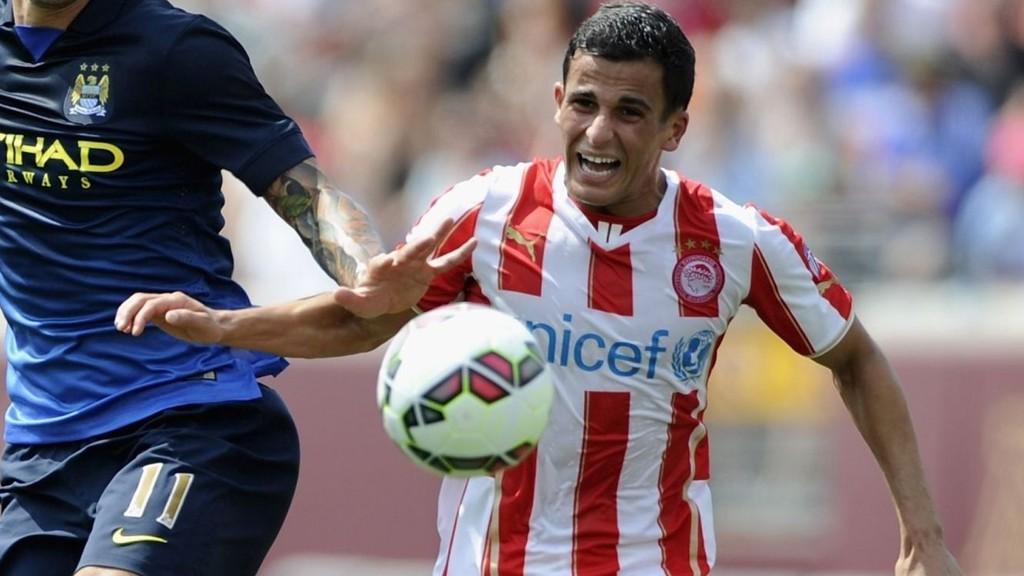 Olympiakos og Omar Elabdellaoui øyner plass i cupspillet, men onsdag venter knallhard bortekamp mot gruppeleder Atlético.